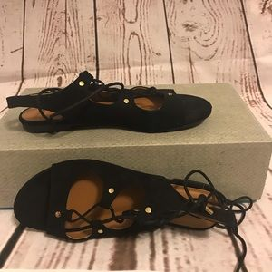 New Indigo Rd Lace Tie Up Sandals Size 8